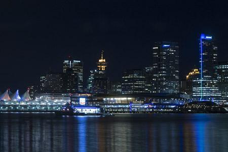 Gigapixel Vancouver Noche
